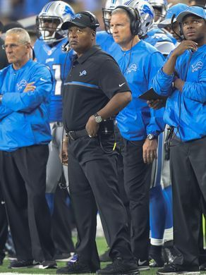 Rams vs. Lions:     October 16, 2016  -  31-28, Lions  -    Detroit Lions head coach Jim Caldwell on the sidelines Sunday, October 16, 2016 at Ford Field in Detroit.  Kirthmon F. Dozier, DFP