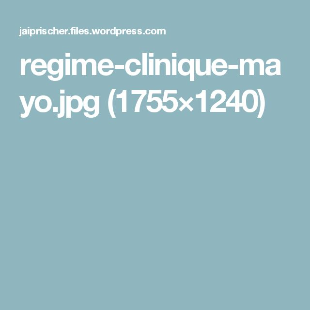 regime-clinique-mayo.jpg (1755×1240)