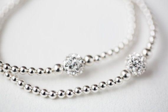 Sterling silver ball bracelet  Layering Bracelet by Savijewelry