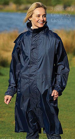 Ladies Long Lightweight waterproof coat £17.99