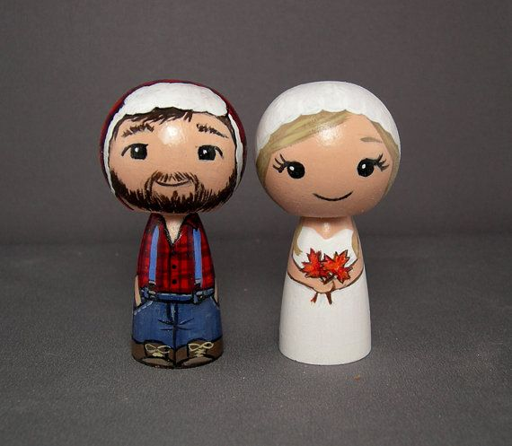 Lumberjack Wedding Cake Toppers Canadian cake by licoricewits