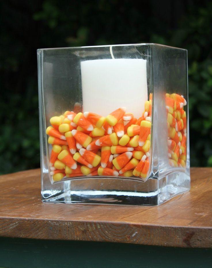 Sweet halloween centerpiece and holiday linkup jars
