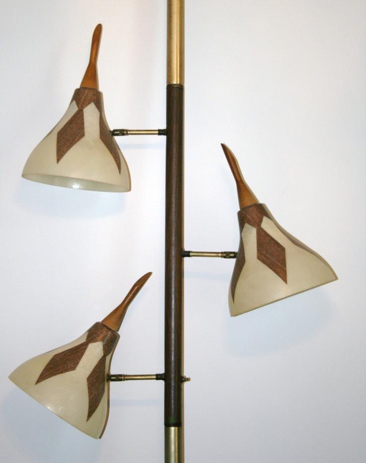 Vintage Tension Pole Floor To Ceiling Lamp Mid Century