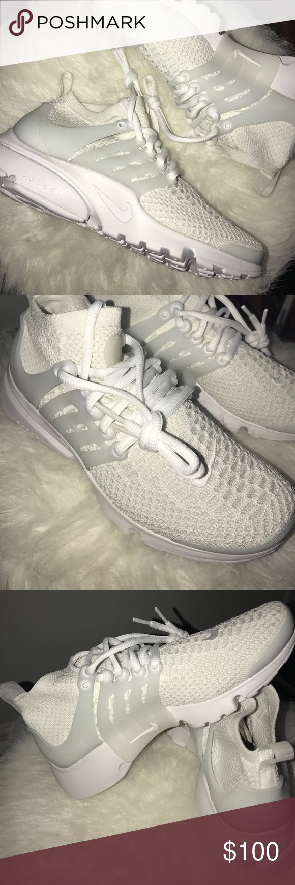 Nike All White Prestos Ultra Flyknit Never been used. Women's size 7. Does not come with box. Nike Shoes Sneakers