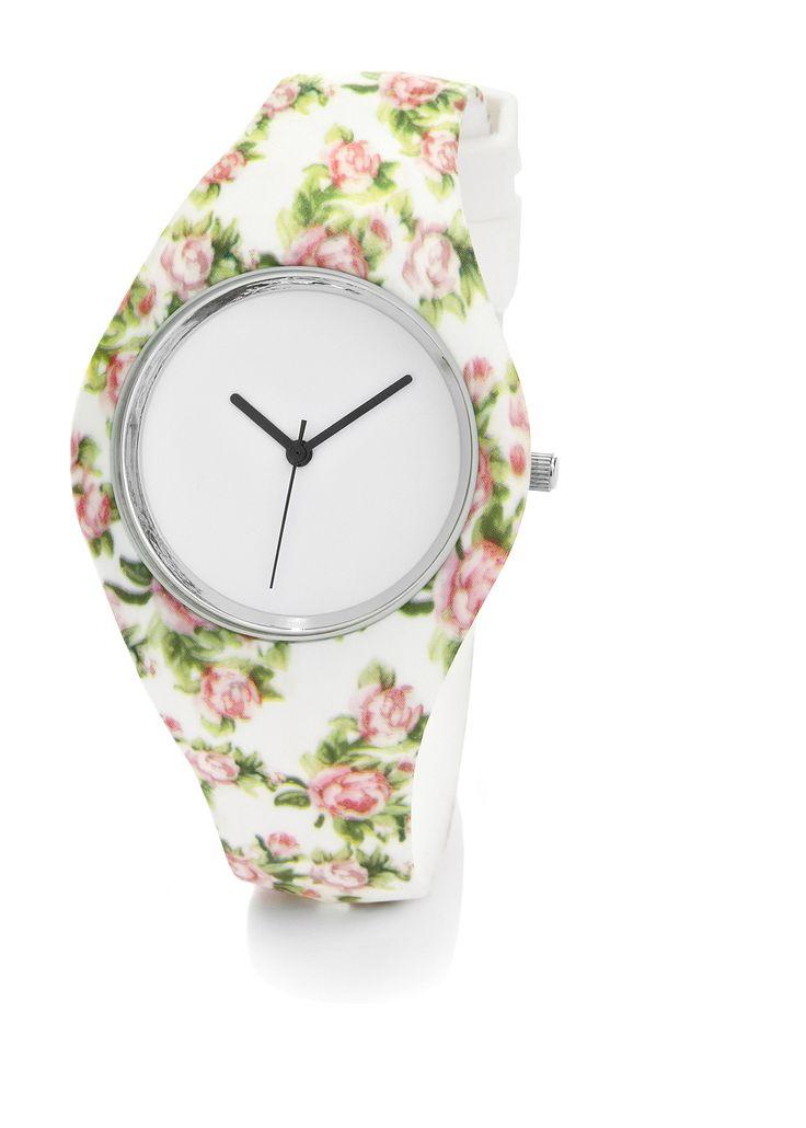 Orologio in silicone a fiori Bianco a fiori - bpc bonprix collection è…