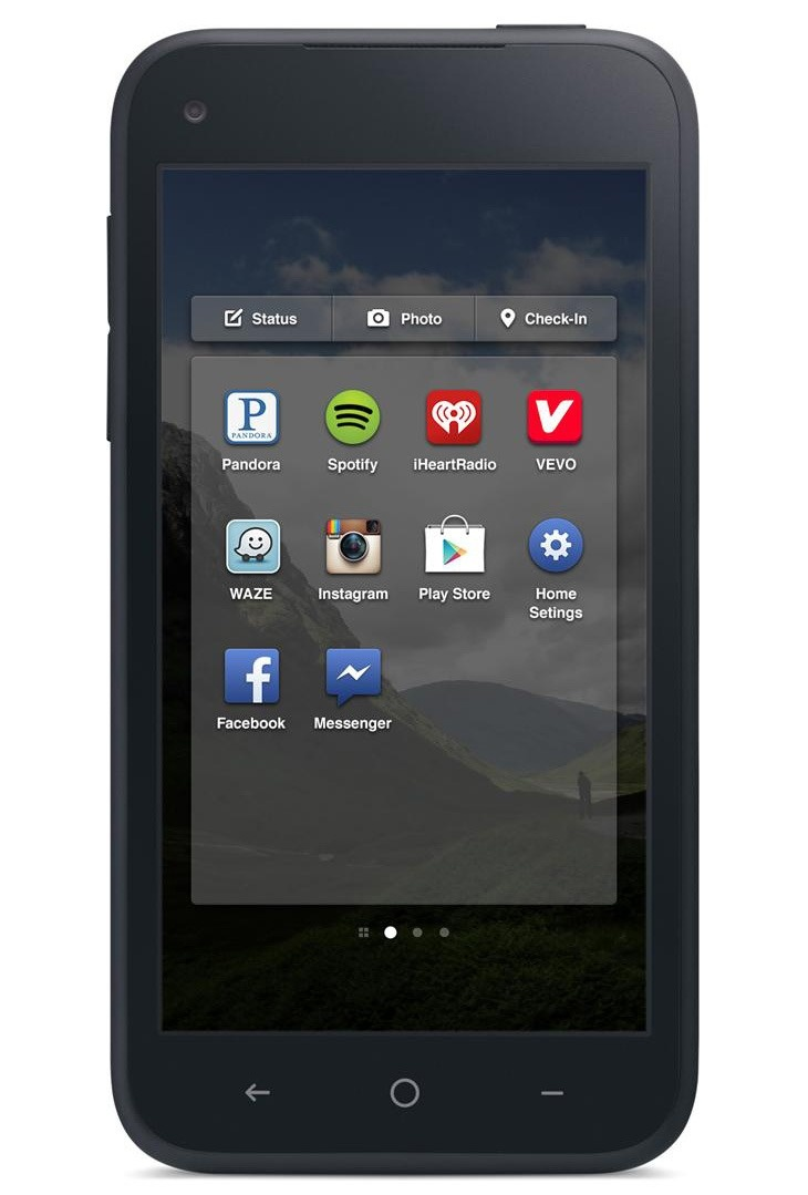 The new Facebook Home on the HTC phone - to be released 12 April 2012 for $99.99