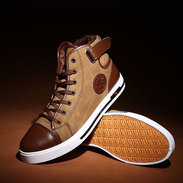 2014 New Men Warm Winter Plus Velvet and Cotton Canvas  Sneaker Fashion Men Casual Shoes XMR083 $28.99