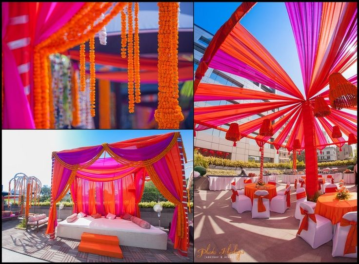 Rajasthani Theme Decor For Mehendi Mehendi Setup