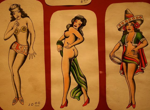 "Old School Tattoo Flash by ""AMUND DIETZEL"""