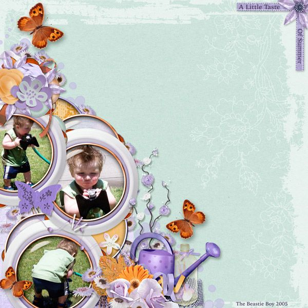 Layout by Smikeel. Kit: A Little Taste of Summer by LeaUgoScrap http://scrapbird.com/designers-c-73/k-m-c-73_516/leaugoscrap-c-73_516_300/a-little-taste-of-summer-by-leaugoscrap-blue-bird-mix-match-p-16596.html