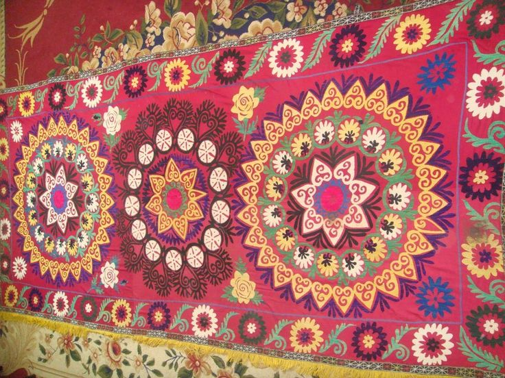 ANTIQUE UZBEK VINTAGE HAND EMBROIDERY SUZANI Gift Wall Hanging Quilt Bedding | Antiques, Linens & Textiles (Pre-1930), Embroidery | eBay!
