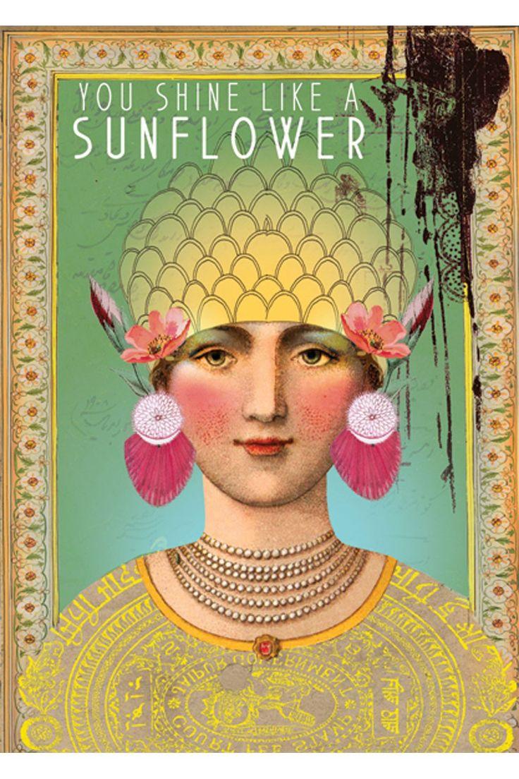 PAPAYA! Art Sunflower 5x7 Card