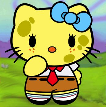 How to Draw Spongebob Hello Kitty, Step by Step, Characters, Pop Culture, FREE Online Drawing Tutorial, Added by Dawn, May 21, 2013, 3:45:51 am