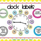 Help your students master telling time with these colorful clock labels!  Liven up your classroom clock with these eye catching labels.  Labels are...