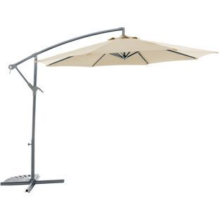 Buy 360 Degree Rotating Overhanging Parasol - Cream at Argos.co.uk, visit Argos.co.uk to shop online for Garden parasols and bases