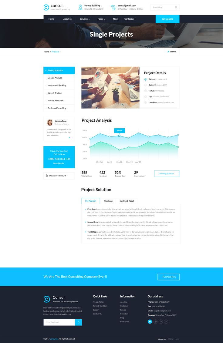 Consul Business & Training PSD Template amp, Business
