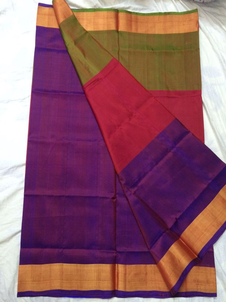 Beautiful pure Uppada Saree in vibrant colors