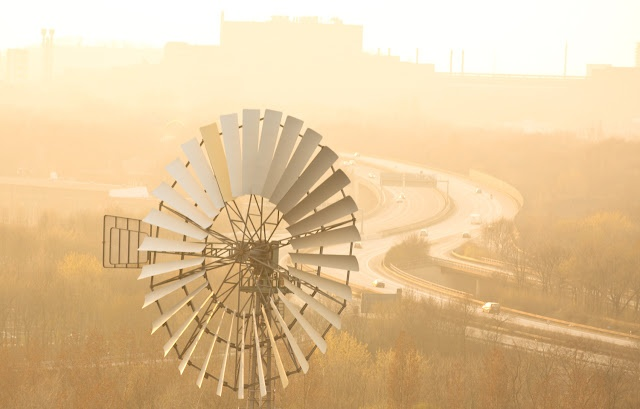 industrial culture    more of my photography on Trans Pond: http://trans-pond.blogspot.com      Sunset over Duisburg, Ruhr-Valley, Germany, seen from the tower of a steel work.