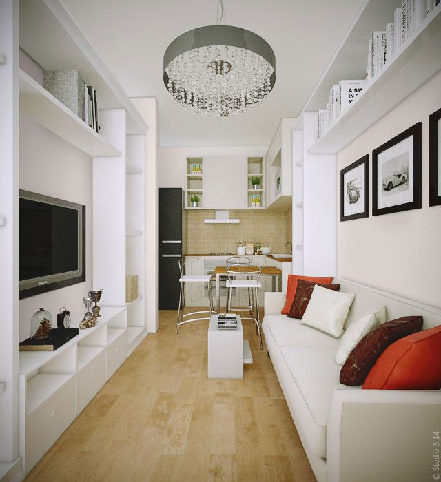 Эскиз гостинной для квартиры в ЖК Микрогород «В лесу»