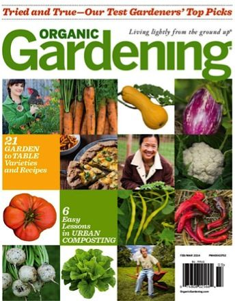 Organic Gardening Magazine Sale: as low as $4.62 per year!  {great tips for your garden this year!} #gardens #thefrugalgirls