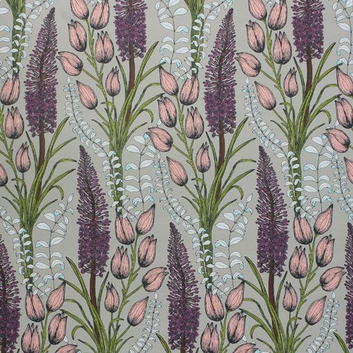 Foxtail Lily Taupe Wallpaper | Abigail Borg | Surface Pattern Designer & Floral Illustrator | Traditional Surface Pattern Design