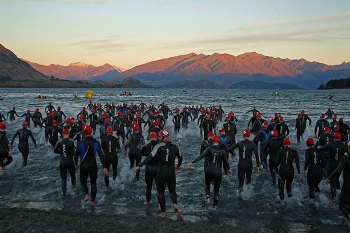 Challenge Wanaka – profiled as 'the world's most scenic iron distance triathlon' – plays out across a stunning New Zealand South Island alpine landscape. #newzealand