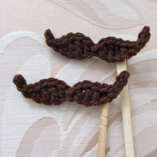 Learn to crochet a mustache for Movember with this free pattern!