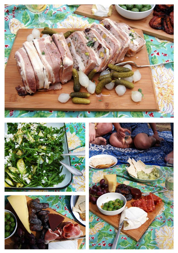 chicken & pork terrine, zucchini, mint & fetta salad, and antipasto...the wild rabbit catering
