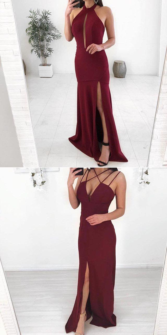 Mismatched burgundy modest cheap unique bridesmaid dresses popular