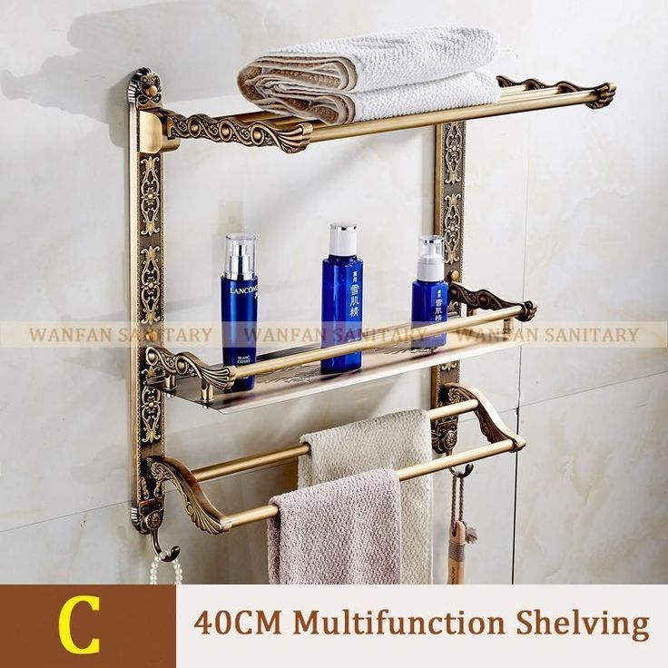 New Wall Mount Layers Storage Basket Shower Room Bathroom Towel Rack Soap Dish S…   – most beautiful shelves