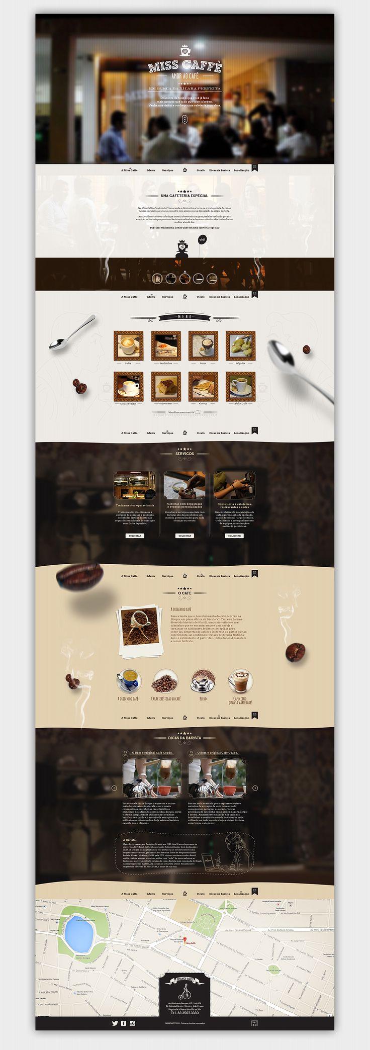 Website MissCaffè on Web Design Served