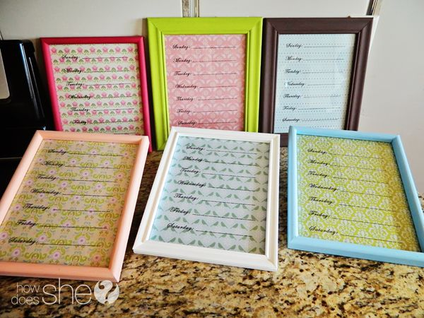 Great for organization or for a gift. Easy Menu Planner.