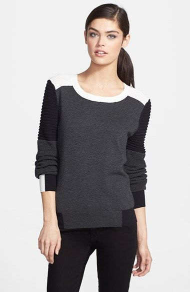 colorblock moto sweater / trouve