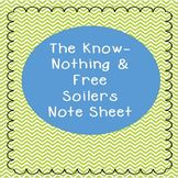 Know-Nothings & Free-Soil Party Powerpoint Note Sheet