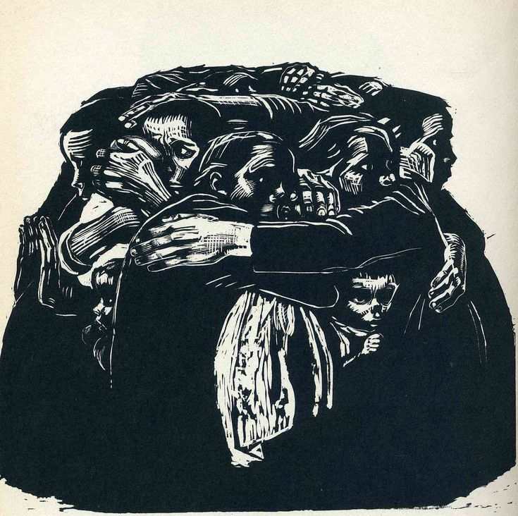 The Mothers (1922) by Kathe Kollwitz.