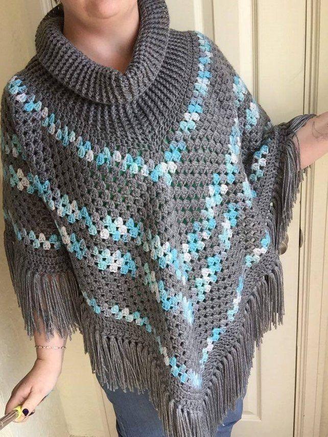 Crochet Cowl Neck Poncho Pattern Crochet Poncho Patterns