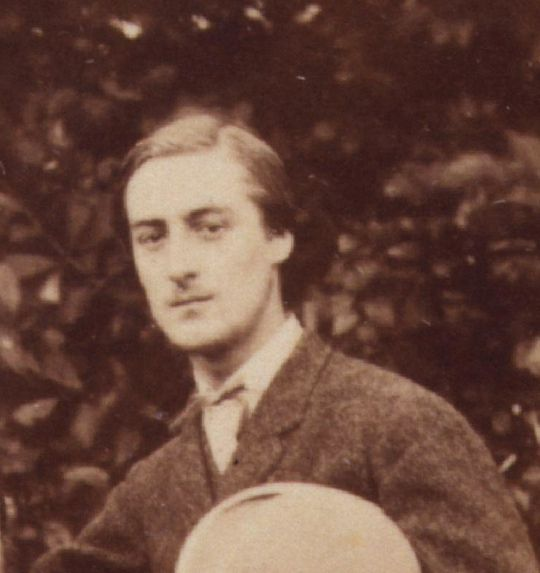 "Gerard Manley Hopkins in 1866.  ""The world is charged with the grandeur of God./It will flame out, like shining from shook foil."""
