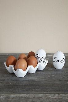 Подставка для яиц, солонка и перечница
