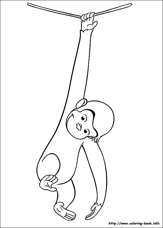 Curious George coloring picture | Hand Embroidery Children ...