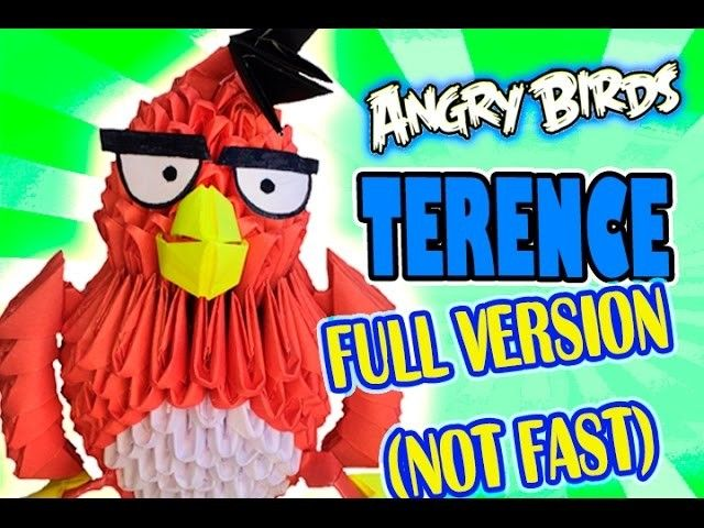 3D MODULAR ORIGAMI #74 TERENCE from ANGRY BIRDS FULL VERSION (NOT FAST)