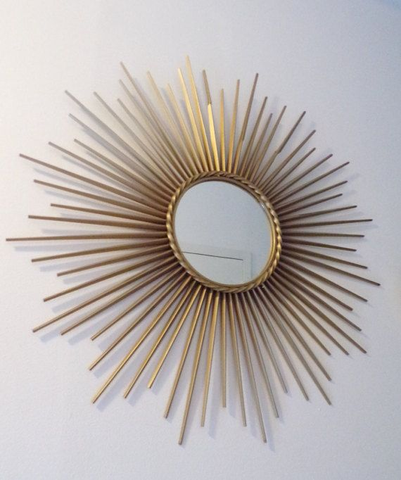 French Sunburst mirror vintage 1950 Chaty Vallauris by PopVintages