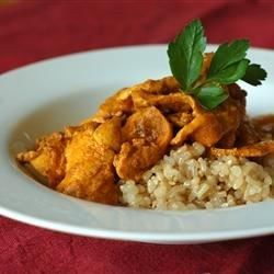 "Indian Chicken Curry II I ""This is my all time favorite go-to recipe when introducing someone to Indian food. You can increase/decrease the heat by the kind of curry powder you use."""