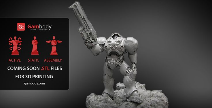 Terran Marine StarCraft 2 Hero Scale Mode - Star Craft II for 3D Mode for printing