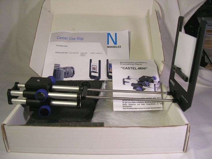 Novoflex Castel-Cop-Digi Slide Duplicator W/ Castel-Mini Focusing Rack NR #Novoflex