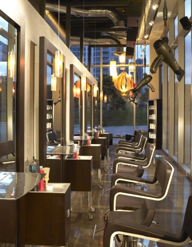 Aveda salon- Look at all those windows