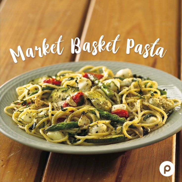 We're taking a trip around the globe for dinner! We'll be grabbing all the ingredients for a mouth-watering Mediterranean dish, Market Basket Pasta.