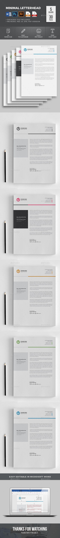 #Letterhead - Stationery Print Templates Download here: https://graphicriver.net/item/letterhead/19255143?ref=alena994