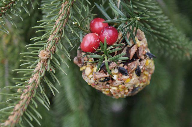 boules Pinecone pour oiseaux attirent les oiseaux dans votre cour.