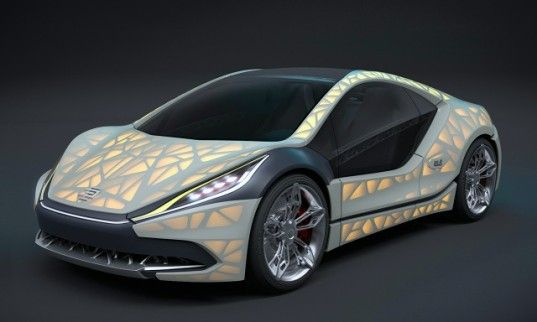 Edagu0027s Light Cocoon Is A 3D Printed Car Inspired By Leaves