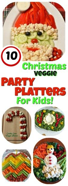 Looking for a healthier Christmas Party snack alternative for the kids? Perfect for classroom Christmas parties, holiday potlucks, and family movie nights! || Vegetable Platters for Kids: 10 Christmas Party Platters! || Letters from Santa Holiday Blog